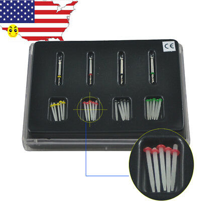 20Pcs Dental Straight Pile High-intensity Quartz Fiber Post. 4 Drills 4 Color*
