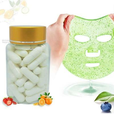 50pcs Capsule Mask Women Facial Skin Care Collagen Protein Bioactive Peptides Cr