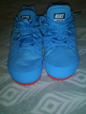 on sale c8e03 17161 Nike Womens Zoom Rival Spikes Running Track Shoes 806559-446 US Size 12