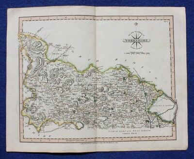 Original antique map WEST RIDING OF YORKSHIRE (NORTH PART), J. Cary, 1809