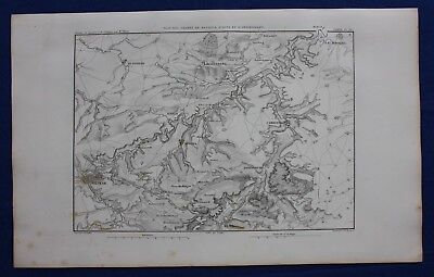 Original antique map, GERMANY, BATTLE OF JENA-AUERSTEDT, WEIMAR, Dufour, 1859