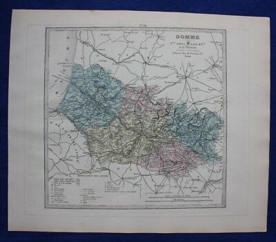 Somme 1878 Old Antique Vintage Map Plan Chart Europe Maps Somme Antiques