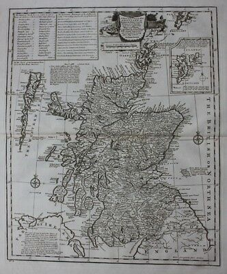 Original antique map SCOTLAND, 'NORTH BRITAIN', Emanuel Bowen, 1747