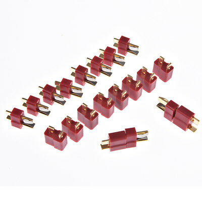 10pairs/20pcs t plug male & female deans connectors style for rc lipo battery GN