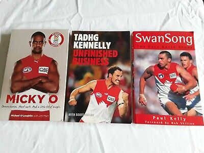 3 SYDNEY SWANS BOOKS Bulk Lot