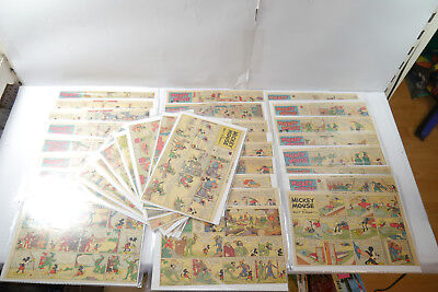 Walt Disney Mickey Mouse Newspaper 33 Comic Strip ´S from 1936 half Sides (WR9B
