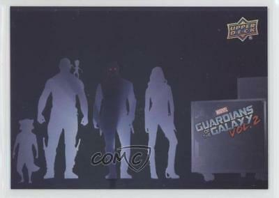 2017 Upper Deck Guardians of the Galaxy Volume 2 Silver Foil Movie Poster 4et