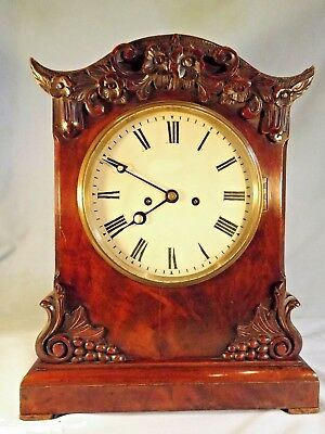 Early 19c Flame Mahogany Double Fusee Bracket Clock C1840.
