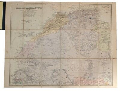 1908 MAP OF NORTH AFRICA Algeria MOROCCO Sudan SENEGAL Maps GEOGRAPHY
