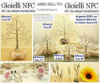 N.1 FAVOURS NFC JEWELRY tree of life CM.19 FILO 925 SILVER% on quartz