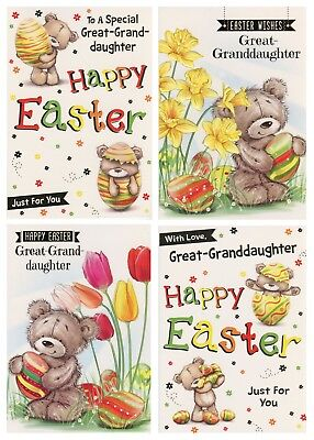 To A Special Great-Granddaughter Easter Cards 1St P&P Various Designs