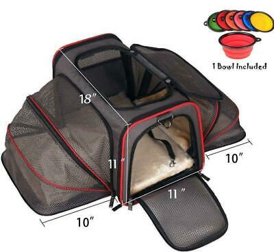 Premium Airline Approved Expandable Pet Carrier by Pet Peppy- Two Side Expansion