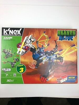 X-Flame Building Set BRAND NEW IN FACTORY SEALED BOX K/'NEX Beasts Alive