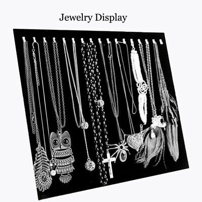 Velvet Necklace Pendant  Chain Jewelry Display Holder Stand Easel Organizer Rack