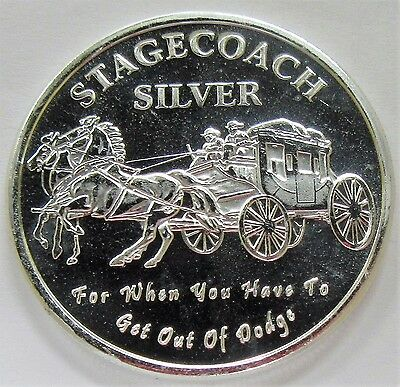 Stagecoach 1 oz .999 Pure Silver Round **Break away or Divisible 1/4 oz. Round