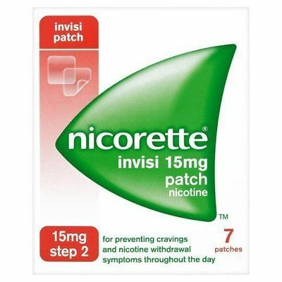 Nicorette InvisiPatch, Step 2, 15 mg, 7 Nicotine Patches Stop Smoking Aid