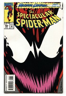 SPECTACULAR SPIDER-MAN #203 Carnage cover 1993-MARVEL COMICS NM-