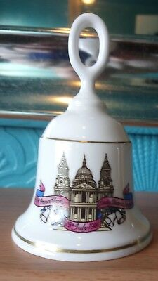 Charles and Diana Wedding Royal Worcester Bone Commemorative China Bell 1981
