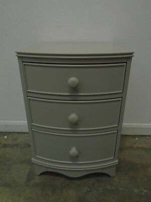 Laura Ashley Broughton 3 Drawer Chest in Pale French Grey - QA3101190658