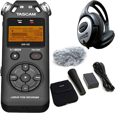 Tascam DR-05 V2 Recorder Dictaphone+AK-DR11GMK2 Accessories Set + Keepdrum