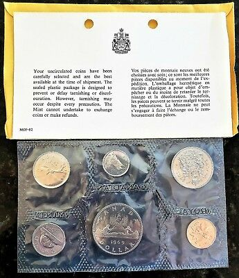 Canada: 1969 Proof Like / Uncirculated Canadian Coin Set - Free Shipping!