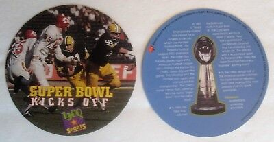 Super Bowl #1 Green Bay vrs KC Chiefs Collectable Disc Card, Lombardi Trophy