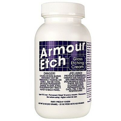 New!  ARMOUR ETCH Glass Etching Cream 22oz EASY TO USE GREAT BARGAIN
