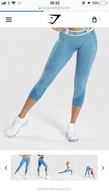 31f2473f9c49b6 Gymshark Ice Blue Flex Leggings Size Small Brand New Sold Out