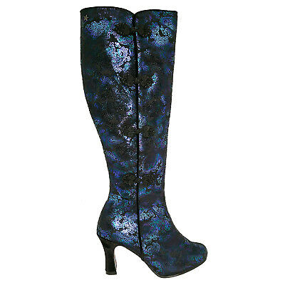 Joe Browns Spirit Boots Black Purple Wicca Witch Boho Steampunk Victorian LARP