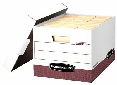 Bankers Box R-kive - Letter/legal, White/red - Taa Compliant - Stackable - Heavy