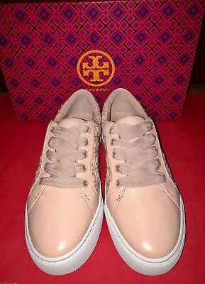 30155f9901e8 NIB TORY BURCH Marion Quilted Lace Up Sneakers Shoes Size 7.5 Sachet Pink