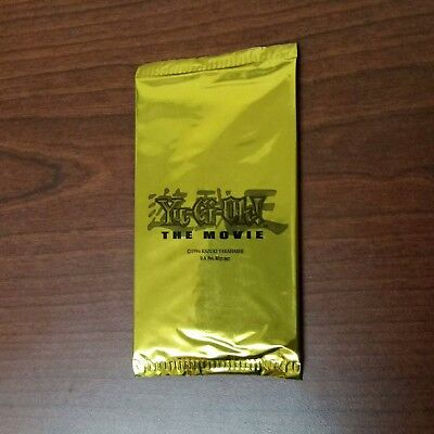 Yugioh The Movie Gold Promotional Booster Pack MOV 2004 - Factory Sealed, New