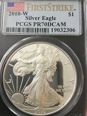 2010-W American Silver Eagle PCGS PR-70 DCAM First Strike SOLD SEPARATELY