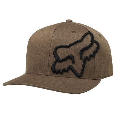 Fox Racing Men's Clouded Flexfit Hat Bark Brown Headwear Baseball Cap