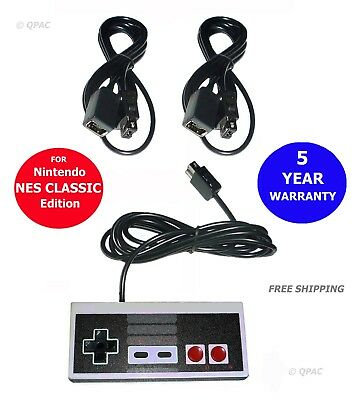 Controller & 2PCs 6ft Extension Cable Cord for Nintendo NES CLASSIC MINI EDITION