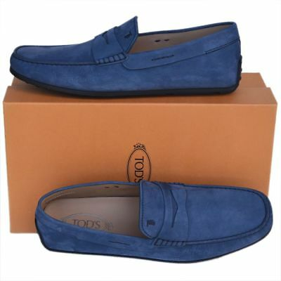 d394dae8a2e TOD S Tods New sz UK 10.5 US 11.5 Auth Designer Mens Drivers Loafers Shoes  blue
