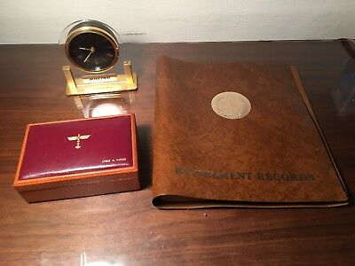 Vintage Boeing Co Airplane Totem Collectibles Lot Clock Retirement Record & Box