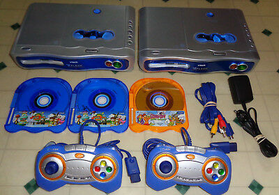 ~~2x Vtech Vflash video game System LOT + games + controllers ~~Works~~