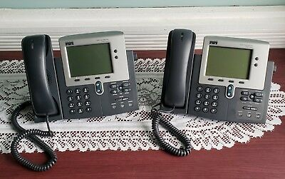 Cisco IP Phone CF-7961G w Hand Set Base//Stand VoIP Business Office Phones