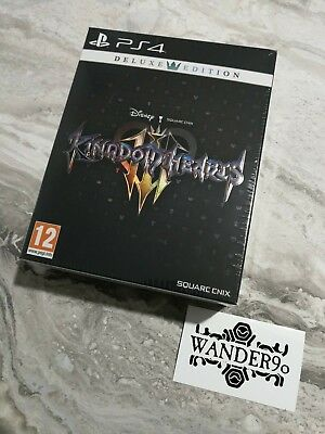 Ps4 Kingdom Hearts 3 Iii Deluxe Edition Limited Pin Collector Steelbook Artbook