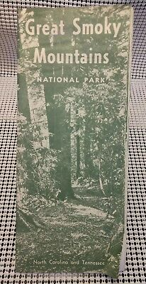 Vintage Great Smoky Mountains National Park N.C. & TN Travel Brochure