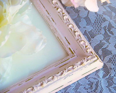 Ornate 8x10 pink & gold shabby distressed chic vintage style wood picture frame