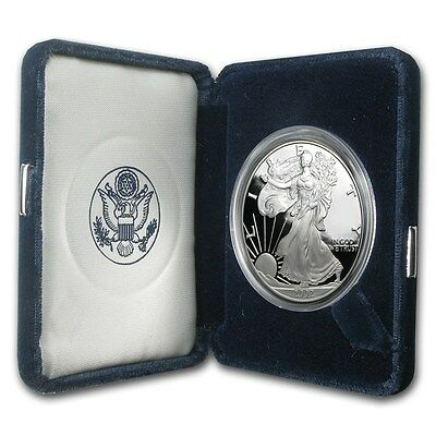 2002 W American Silver Eagle Proof 1 oz. with Mint Box & CoA - OGP