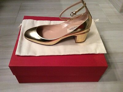 3303164f70 Valentino Gold Tango Saks patent Leather Pumps Brand New in box - size 36,  6US