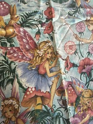 Vintage Fairy/ Fairies Fabric Material - Shirley Barber - 2 Curtains - Gorgeous