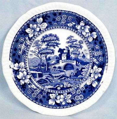 Copeland Spode Tower Bread & Butter Plate Blue Gadroon Older Mark Full Flower 6
