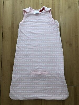 Sprout Pink Heart Print Baby Sleeping Bag Size 00 3-6 Months New