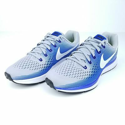 Nike Air Zoom Pegasus 34 Men s Running Shoes Grey White Blue 880555 007 Size 588cee2a7d
