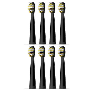 8x Fairywill Black Replacement Brush Heads Firm Bristles For FW-507 508 917 959
