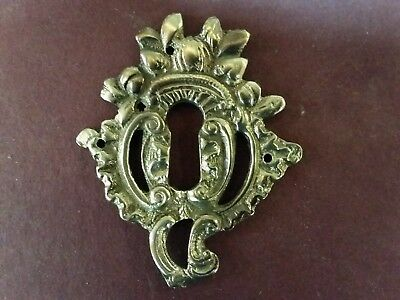 Antique Keyhole Cover - Escutcheon - Solid Brass Victorian - LARGE